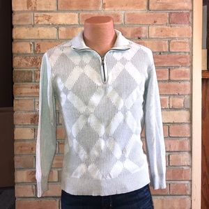 BKE THE BUCKLE SWEATER MENS M ATHLETIC FIT 1/4 ZIP